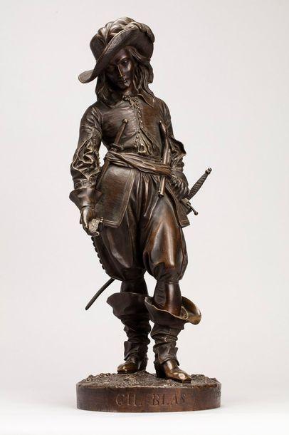 LEVEQUE Edmond, 1814-1874  Gil Blas  bronze...