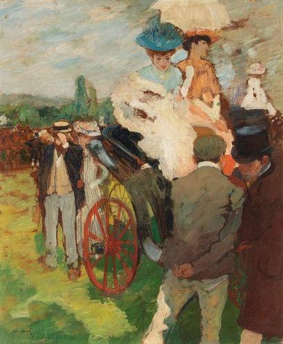 CARRÉ Léon, 1878-1942  Élégantes en calèche...
