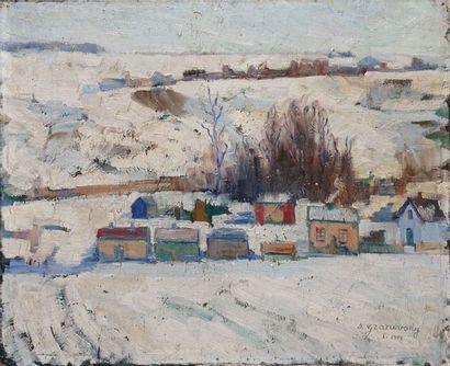 GRANOVSKY Sam, 1889-1942  Village sous la...