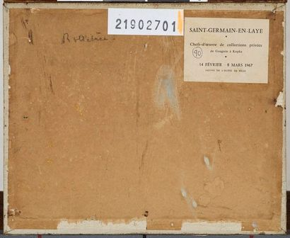 MARQUET Albert, 1875-1947 La Seine à Rolleboise huile sur carton toilé cachet de...