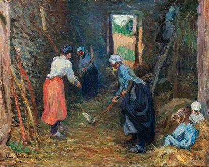 PAILLER Henri, 1876-1954  Vitrat, Les balleuses...