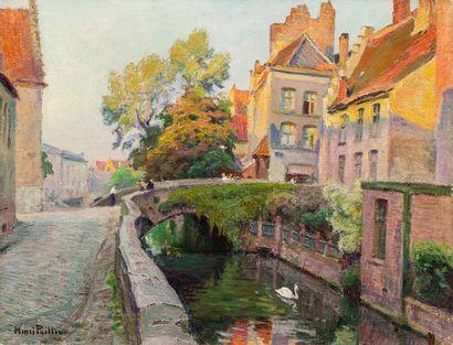 PAILLER Henri, 1876-1954 Bruges, le pont...