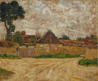 VALTAT Louis, 1869-1952  Chemin et maison...