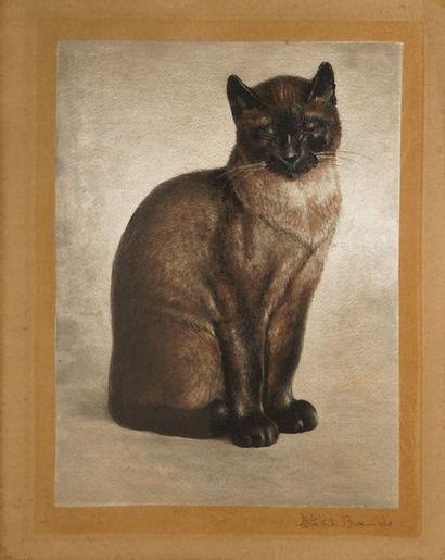 BANDO Toshio, 1895-1973 Chat eau-forte en...