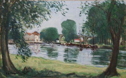 BELLANGER René, 1895-1964  Bords de rivière...