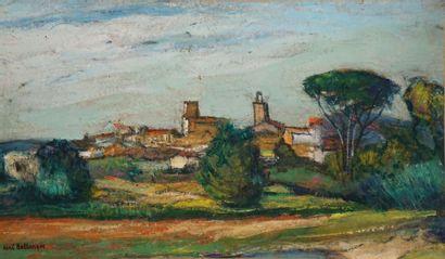 BELLANGER René, 1895-1964  Village du Midi...