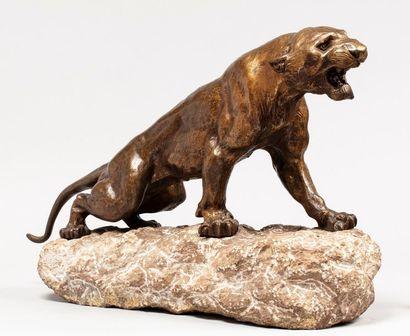 CARTIER Thomas, 1879-1943  Tigre  bronze...