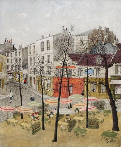 GHIGLION-GREEN Maurice, 1913-1989  La place...