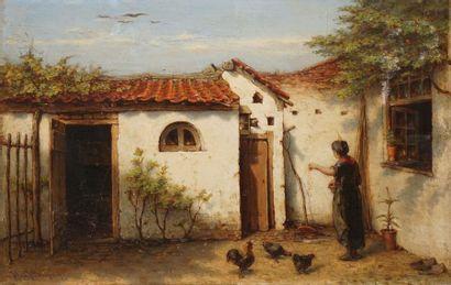 BURGERS Hendricus Jacobus, 1834-1899  Paysanne...