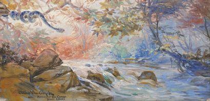 VAN CUYCK Octave, 1870-1956  Rivière, souvenir...