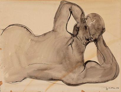 PIGNON Édouard, 1905-1993  Nu couché, 1954...