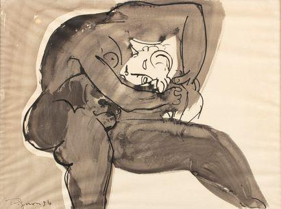PIGNON Édouard, 1905-1993  Baigneuse à la...
