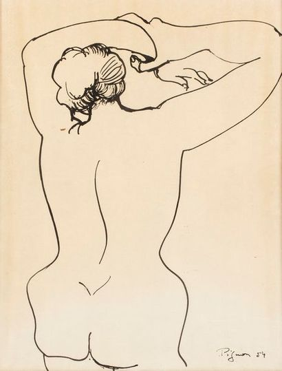 PIGNON Édouard, 1905-1993  Nu aux bras levés,...