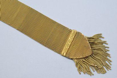 Élément de bracelet en or jaune 18K (750)...