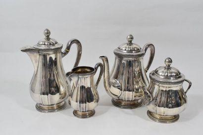 Service à thé et café en argent (950) modèle...