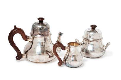 Service à thé en argent (950) modèle de forme...