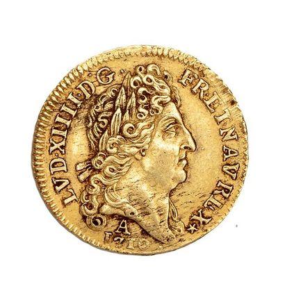 Louis d'or au soleil. 1710. Paris D.1449....