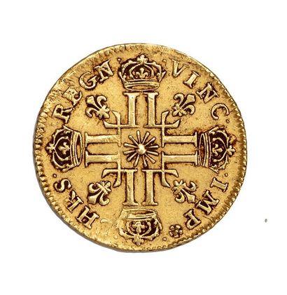 Louis d'or au soleil. 1710. Paris D.1449. TTB à Superbe.  Poids : 8.15 g.