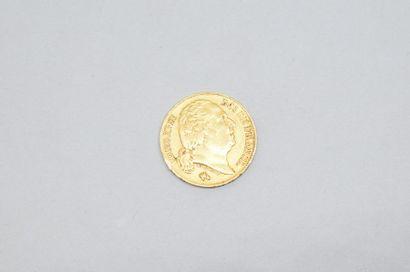 Pièce en or de 20 Francs Louis XVIII (buste...