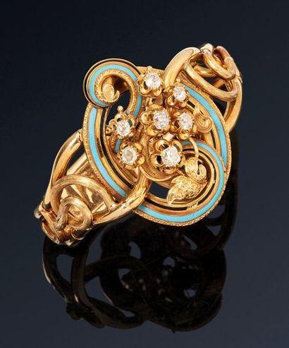 Bracelet semi rigide en or jaune 18K(750)...