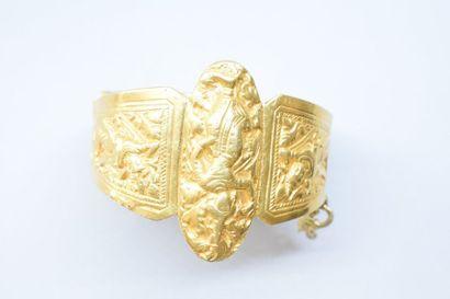 Bracelet en alliage d'or 9K (375) et divers...