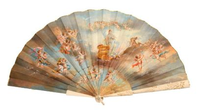 Le triomphe de Vénus  Eventail, la feuille...