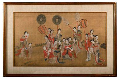 L'Impératrice de Chine en compagnie des concubines...