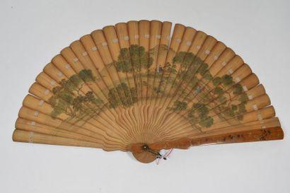 ItaOgi  Eventail de type brisé en bambou...