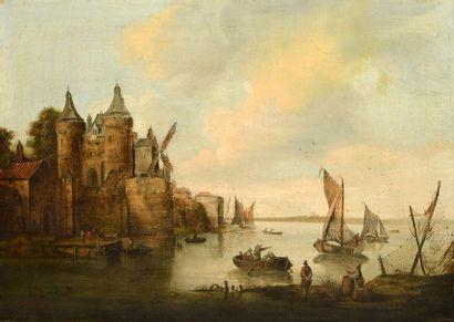 COOKE, Edward William (1811-1880) Le port...
