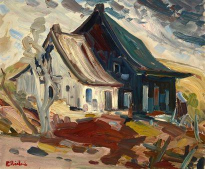 RICHARD, René Jean (1895-1982) Ferme, Charlevoix...