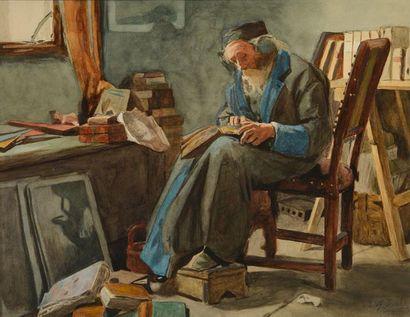ISRAELS, Jozef (1824-1911) Sans titre Technique...