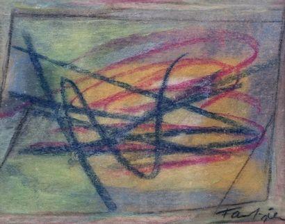 FAUTRIER, Jean (1898-1964) Sans titre Pastel...