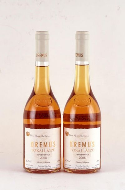 Oremus Tokaji Aszu 5 Puttonyos 2008 - 2 bouteilles de 500ml
