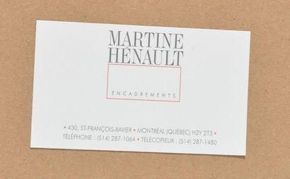 """MOLINARI, Guido (1933-2004) Sans Titre (Étude pour """"Blanc Dominant"""") Sérigraphie..."""