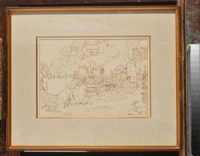 PELLAN, Alfred (1906-1988) Sans titre Encre Signée en bas à droite: Pellan Provenance:...