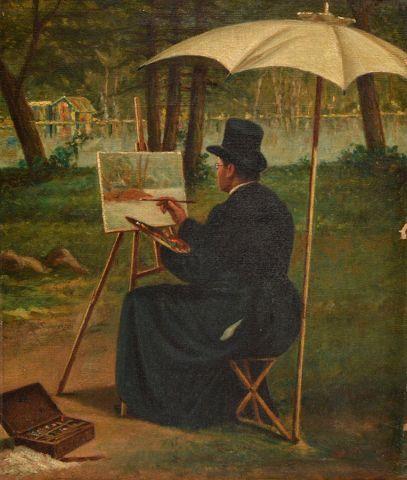 RAPHAEL, William (1833-1914) Artist at work...
