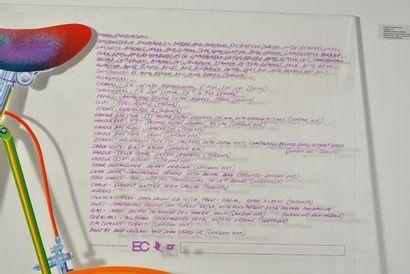 """CURNOE, Greg (1936-1992) """"Mariposa T.T."""" Sérigraphie couleurs sur plexiglas Signature,..."""
