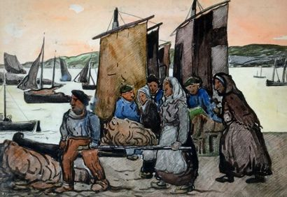 FORTIN, Marc-Aurèle (1888-1970) Fishing in...