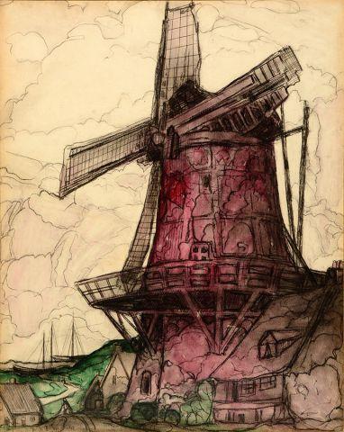 FORTIN, Marc-Aurèle (1888-1970) Windmill,...