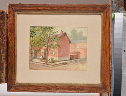 "RAPHAEL, William (1833-1914) ""The artist's house on Victoria St."" Aquarelle Signée..."