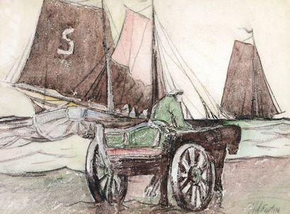 FORTIN, Marc-Aurèle (1888-1970) Horsedrawn...