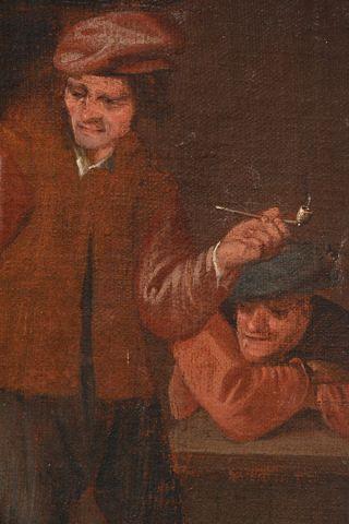 RAPHAEL, William (1833-1914) Fumeurs Huile sur toile Provenance: Collection du Dr....