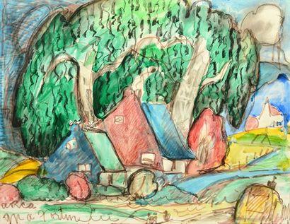 FORTIN, Marc-Aurèle (1888-1970) Houses under...