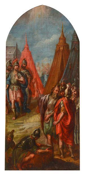 ITALIAN SCHOOL C. 1700 Moses speaking to...