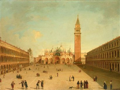 VENITIAN SCHOOL, EARLY 19TH C. View of Piazza...