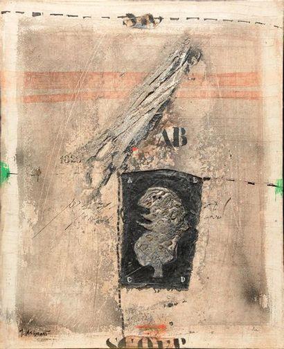 COIGNARD, James (1925-2008) Profil sur noir...