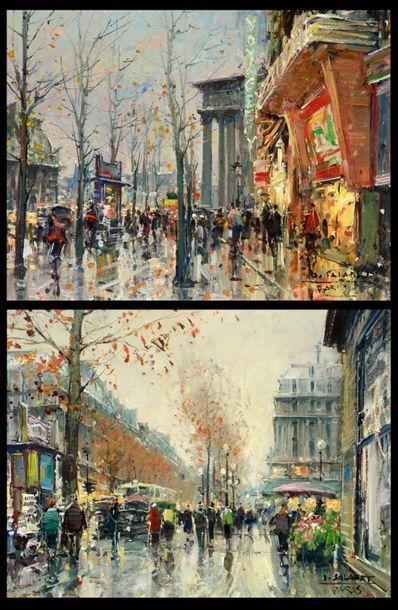 SALABET, Jean (1913-1995) Boulevard, Paris...
