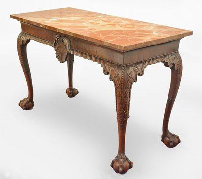 IRISH PIER TABLE, circa 1750 A rectangular...