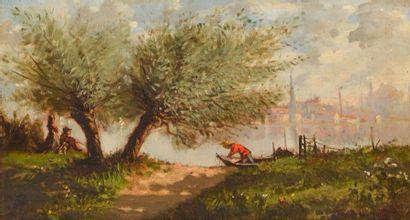 TROUILLEBERT, Paul Désiré (1829-1900) Fisherman...