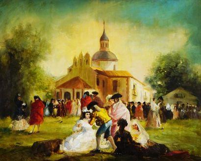 LUCAS VELASQUEZ, Eugenio (1817-1870) Marriage...